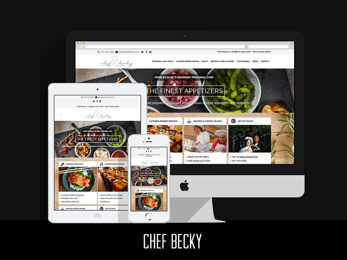 Web & Graphic Design - Chef Becky