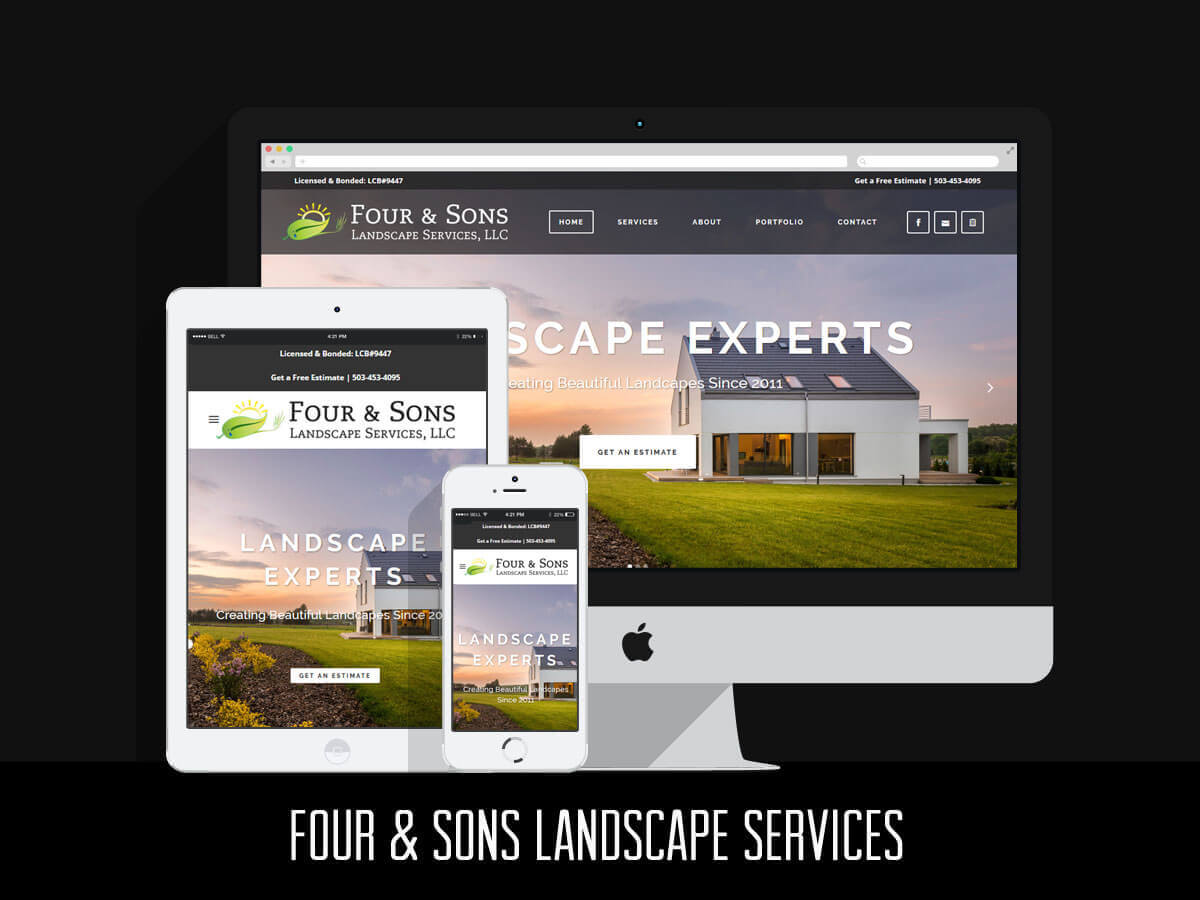 Web & Graphic Design - Four and Sons Landscape