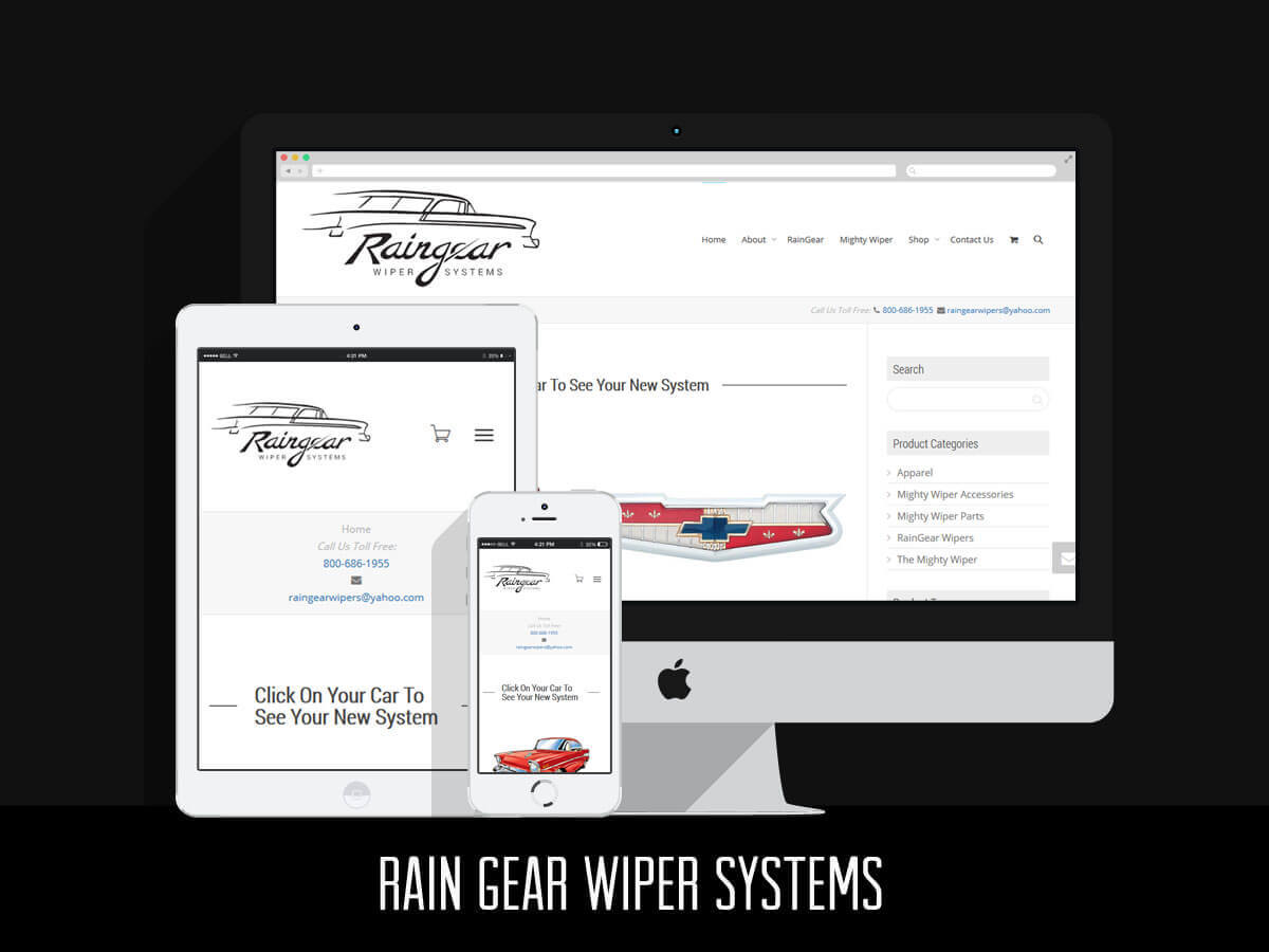 Web Design & eCommerce - RainGear Wipers