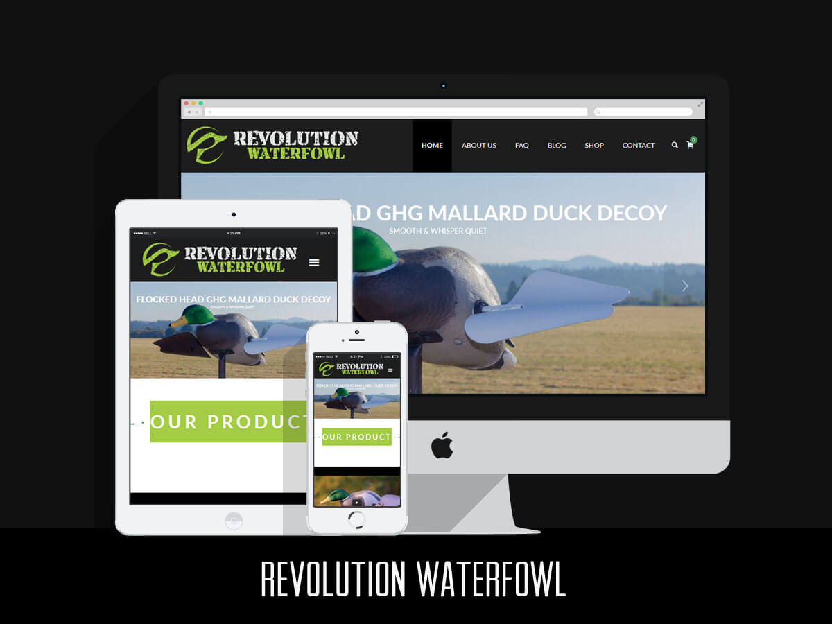 Web Design - Revolution Waterfowl