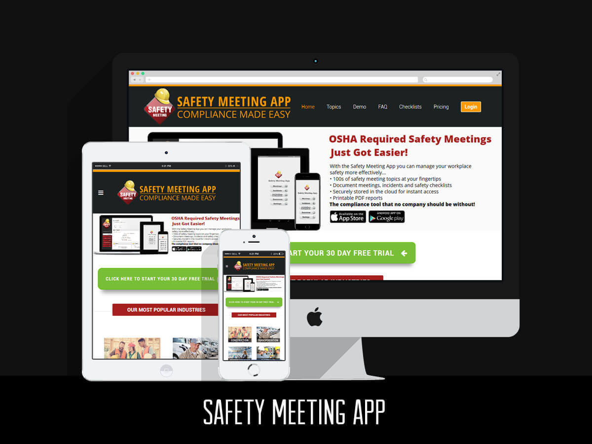 Web Design & SEO - Safety Meeting App