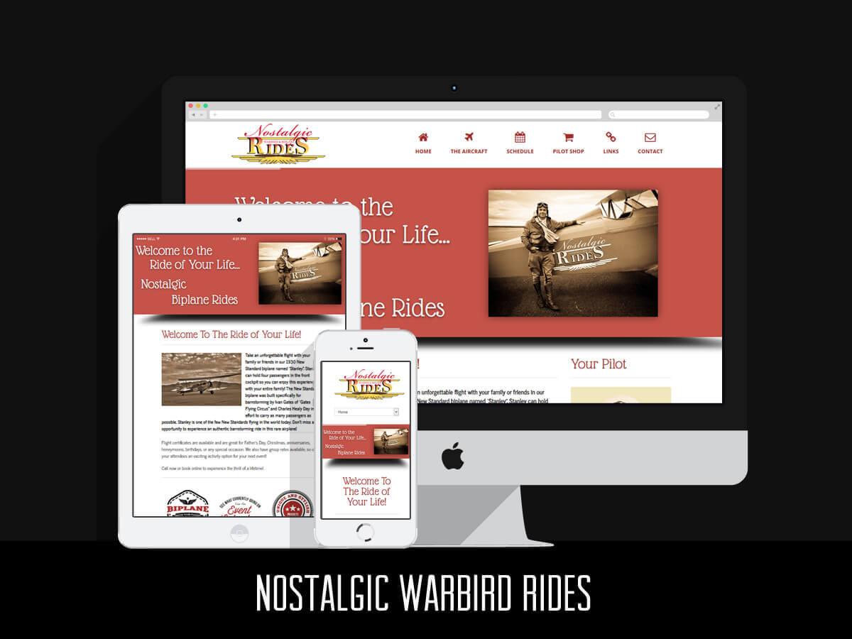 Web & Graphic Design - Nostalgic Warbird Rides
